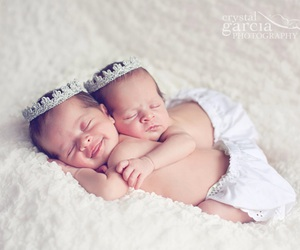 baby boy, baby girl, and twins image