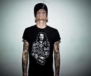 boy, tattoo, and smoke image