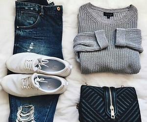 fashion, jean, and outfit image