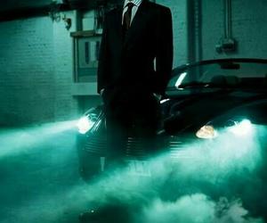 car, mafia, and suit image