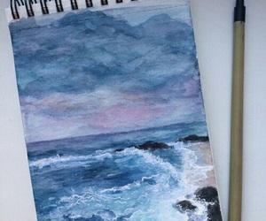 art, blue, and sea image