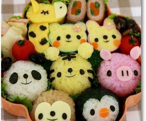 so cute rice ball for kids lunch: