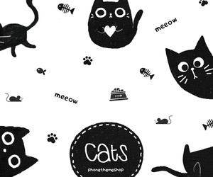 wallpaper, cat, and iphone wallpaper image