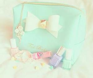 pastel, nail polish, and bow image