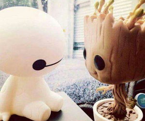 groot, baymax, and cute image