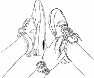 outline, shoe, and cute image