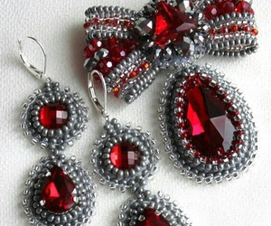 jewels, jewerly, and red rubins image