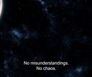 space, moon, and quotes image
