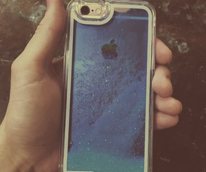 6, blue, and case image