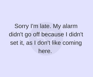 alarm, college, and funny image