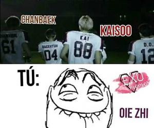 kaisoo, exo memes, and memes kpop español image