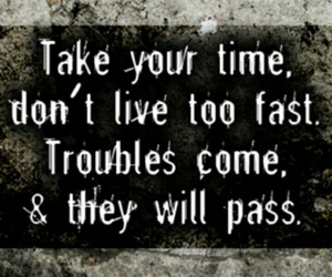 quote, time, and trouble image