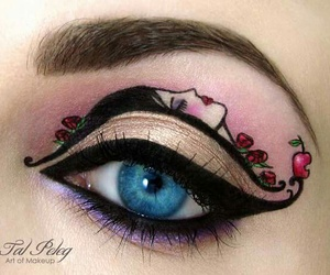 art, make up, and makeup image