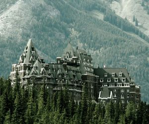 castle, nature, and mountains image