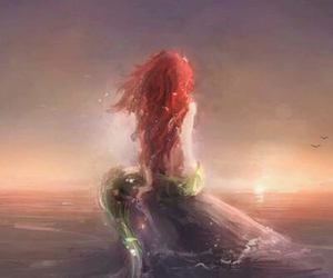 mermaid, ariel, and disney image