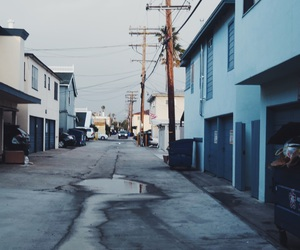 alley, blue, and cali image