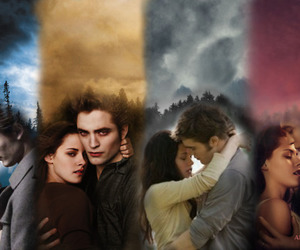couple, new moon, and the twilight saga image