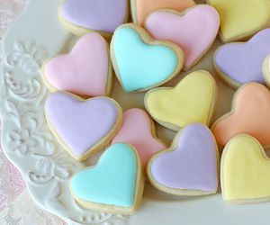 pastel, Cookies, and heart image