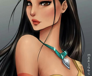 anime, pocahontas, and princess image