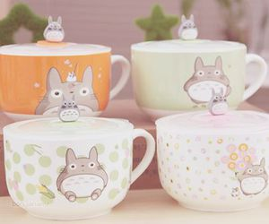cute, totoro, and cup image