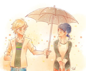 Adrien, drawing, and umbrella image