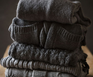 sweater, grey, and style image