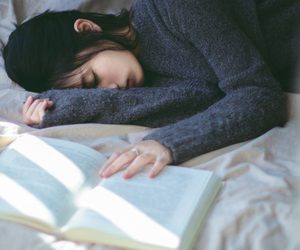book and sleep image