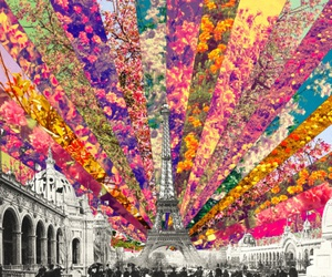 art, color, and eiffel tower image