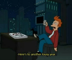 new year, futurama, and quotes image