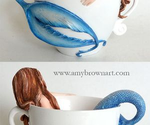 blue, cup, and dreamy image