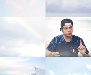 sky blue, lockscreen, and rubius image