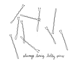bobby pins, hair, and pins image