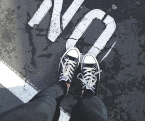 no, converse, and grunge image