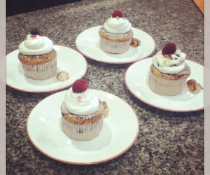 blueberries, chocolate, and cupcakes image