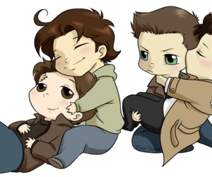 supernatural, gabriel, and castiel image