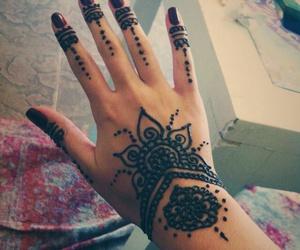 girls, henna, and nails image