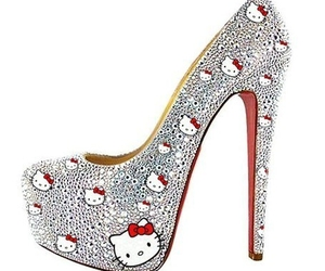 hello kitty, shoes, and heels image