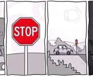 stop, funny, and car image