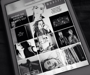 black and white, cool, and tumblr image