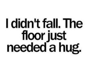hug, fall, and floor image