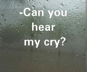 cry, rain, and sad image