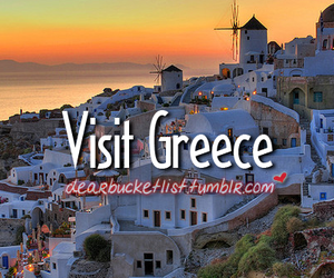 before i die, distance, and Greece image