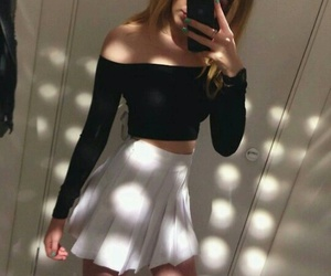 black, clothes, and white image
