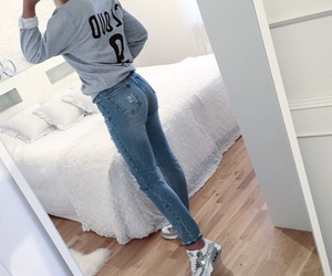 fashion, air max, and jeans image
