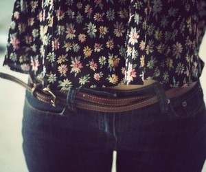 fashion, jeans, and floral image