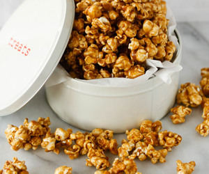 popcorn, cashew, and caramel corn image