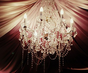 light, chandelier, and pink image