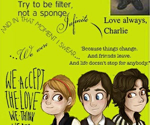 art, book, and the perks of being a wallflower image