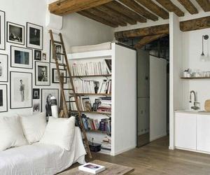 bookshelves, white decor, and modern rustic image