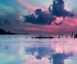 aurora, beautiful, and pink image